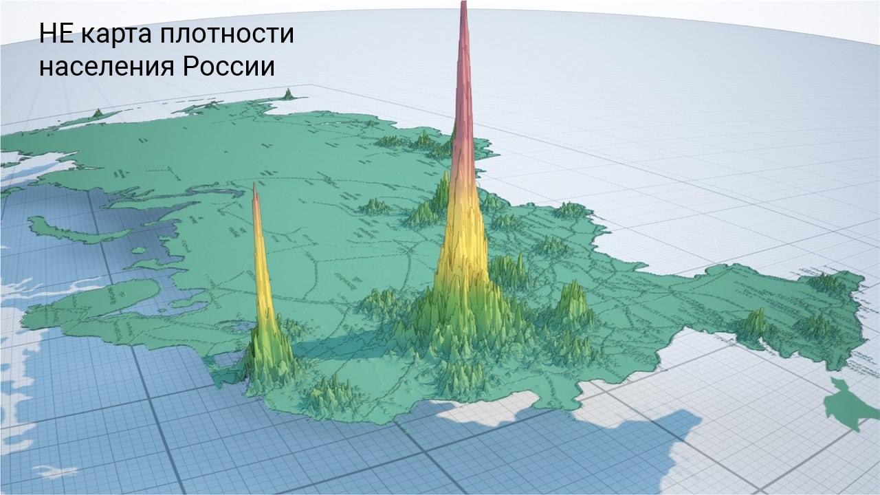 НЕ карта плотности населения России